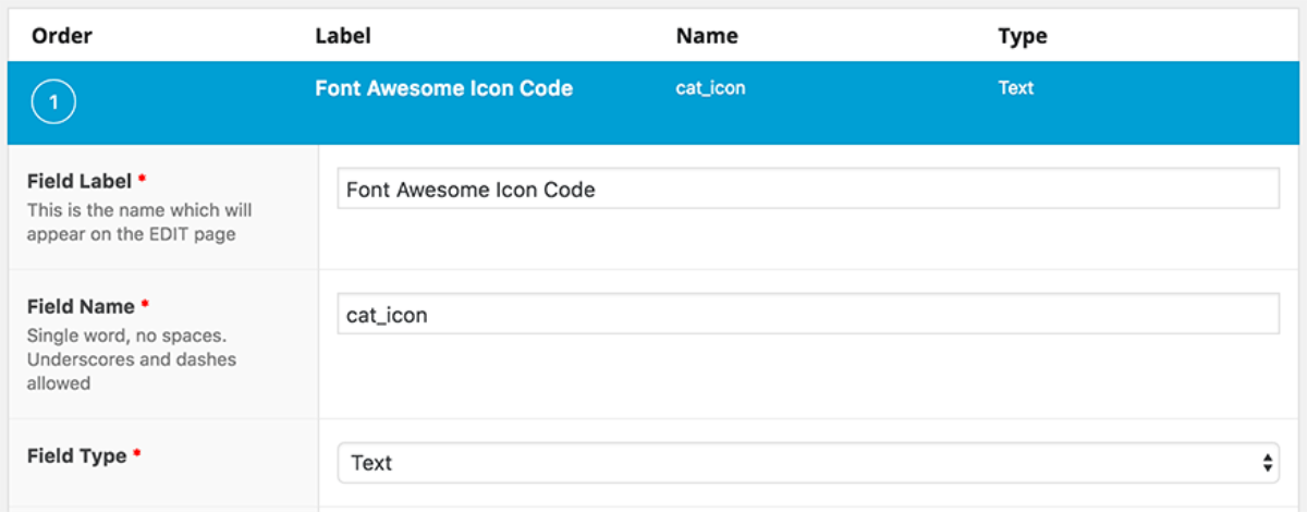 Assigning Icons to WordPress Categories with Advanced Custom