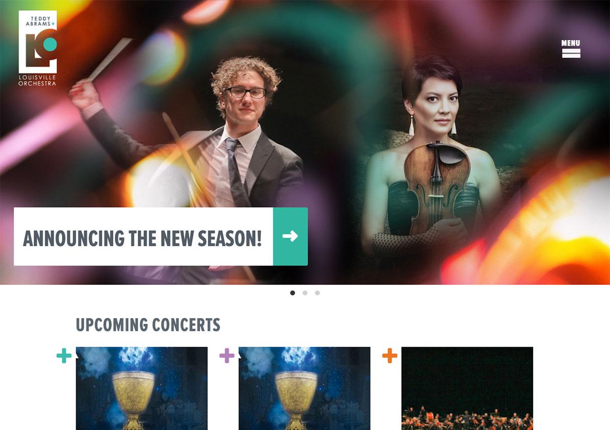 Louisville Orchestra's Website